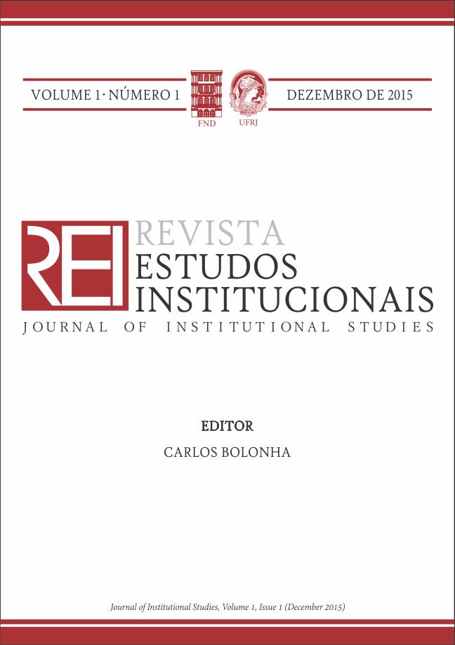 REI - Revista Estudos Institucionais, Vol. 1, nº 1, 2015